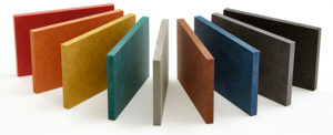 Paneles de fibra coloreada
